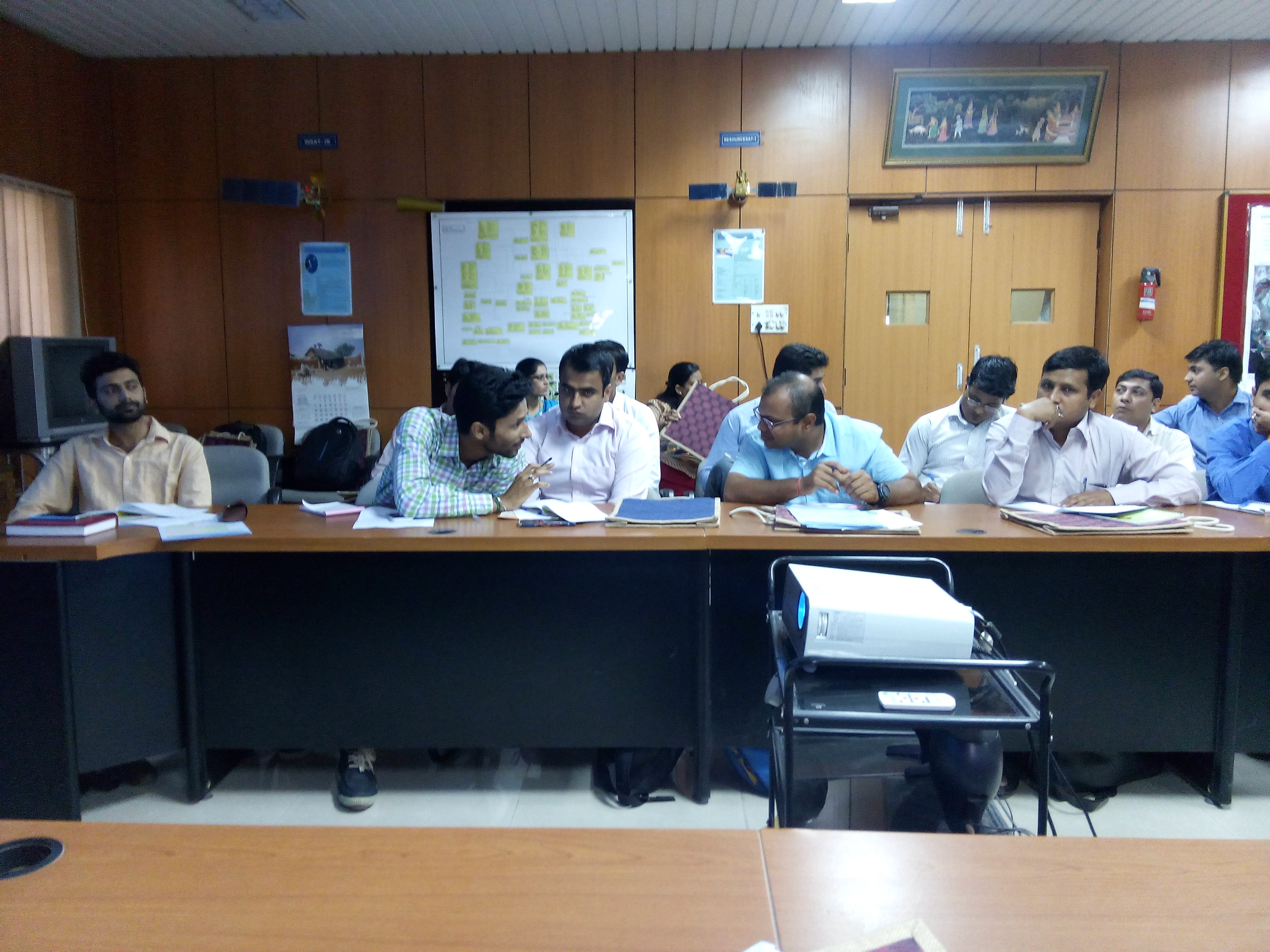 Participants in the training programme on Bhuvan